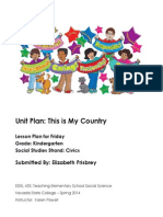 Kindergarten Civics Unit Plan FRIDAY