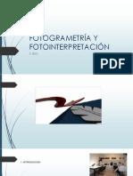 Fotogrametra y Fotointerpretacin