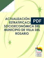 Actualización y Estratificación Socioeconómica Del Municipio de Villa