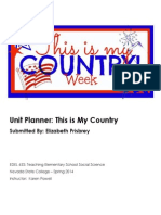 Kindergarten Civics Unit Plan Planner