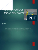 Como Realizar Una Tabla en Word