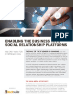 HootSuite Enabling the Business With Social Relationship Platforms CIO