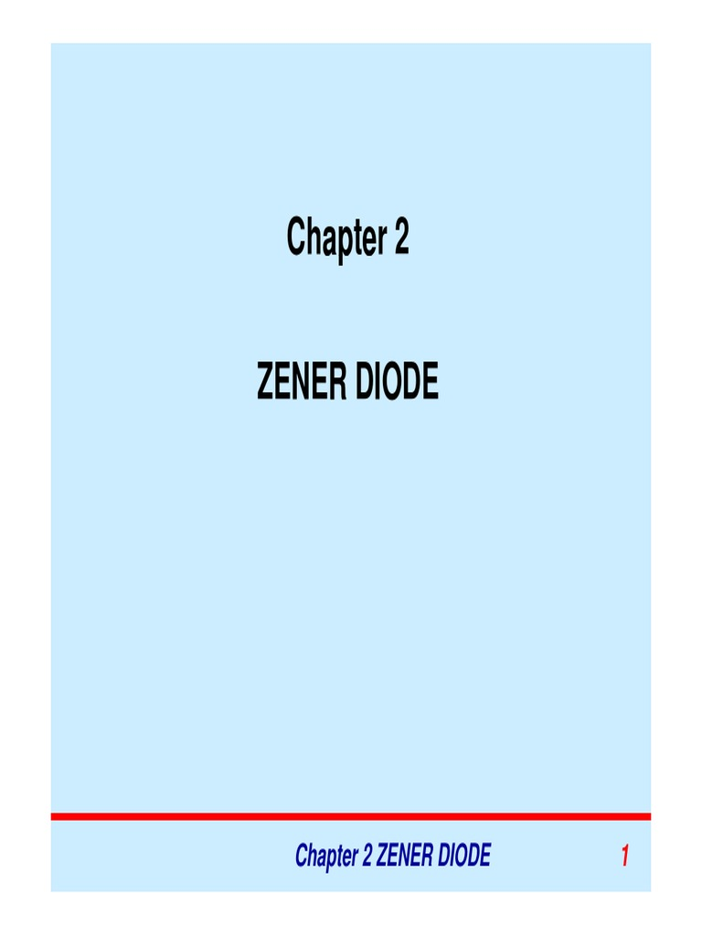 Circuito Zener : Chapter2 zener diode see2063 diode manufactured goods