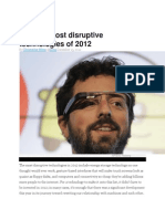 Disruptive-Technologies in 2012