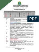 calendario acadêmico 2014