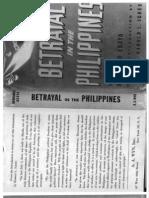 Betrayal in the Philippines - Hernando Abaya
