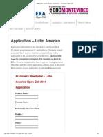 Application – Latin America _ Al Jazeera – Viewfinder Open Call