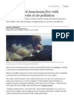 Almost Half of Americans Live With Unhealthy Levels of Air Pollution _ Environment _ Theguardian