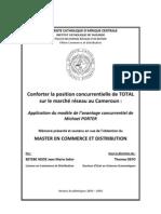 e TOTAL sur lemarché réseau au Cameroun_ application du modèle de l'avantage concurrentiel de Michael Porter
