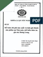 Kế toán chi phí sản xuất và tính giá thành sản phẩm tại nhà máy chế biến thức ăn gia súc Hưng Long.pdf