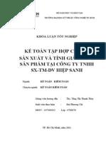 Kế toán chi phí sản xuất kinh doanh và tính giá thành sản phẩm tại Công ty TNHH TMSXDV Hiệp Sanh.doc