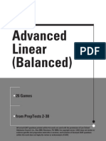 Advanced Linear Balanced Logic Games LSAT