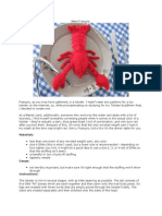 Lobster Plush Knitting Pattern