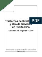 Trastornos de Substancias y Uso de Servicios en Puerto Rico Encuesta a Hogares