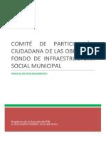Modificaciones Propuestas Al Manual de Funcionamiento Del Comiteì de Participacioìn Ciudadana de Las Obras Del Fondo