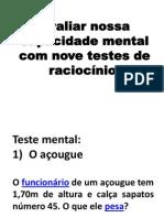 Avaliar Nossa Capacidade Mental Com Nove Testes De