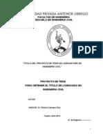 Proyecto de Tesis de Licenciatura CCivil