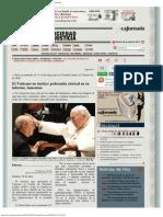 La Jornada_ El Vaticano No Incluye Pederastia Clerical en Su Informe, Lamentan