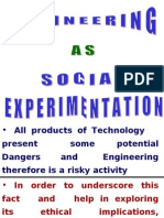 engineering as social experimentaion