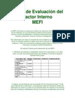 Matriz de Evaluación Del Factor Interno