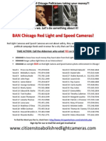 Howard Brookins Voted YES Red Light Cam Chicago Flyer - 5-3-2014