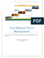 Travel Management - user manual