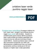 80mw Puntatore Laser Verde Brillante Puntino Raggio Laser