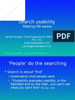 Search usability workshop