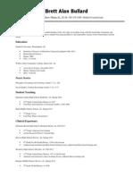 brett bullard resume