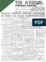 Ley de Cine 1947 - Boletín Oficial