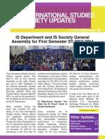 ISSOC Update 2013-2014 1st Semester