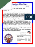 Sand Springs Elks May 2014 Newsletter
