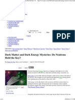 Dark Matter and Dark Energy Mysteries_ Do Neutrons Hold the Key_ _ Space