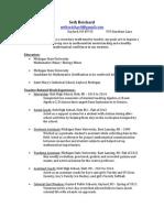 teaching resume - draft 1 april 2014