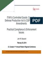 JWB Presentation - IE Canada CGP-ITAR Session - 11th Annual Western Regional Conference February 26 2014