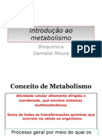 Introdução ao metabolismo