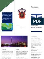 Toronto Folleto Francs