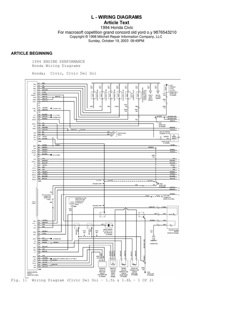 honda del sol wiring diagramas honda civic  diagramas honda civic