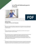 Cómo Elaborar Un Plan de Enfermería Para La Enseñanza Del Paciente
