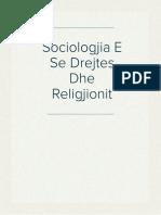 Sociologjia E Se Drejtes Dhe Religjionit