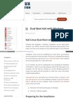 Docs Kali Org Installation Dual Boot Kali With Windows