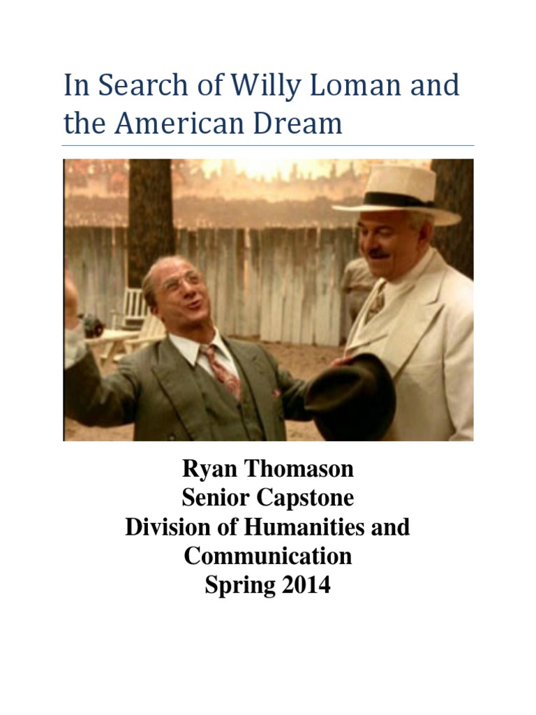 Willy Loman And The American Dream Analysis