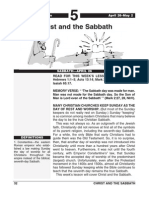 2nd Quarter 2014 Lesson 5 Christ and the Sabbath Easy Reading Edition