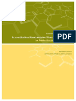 Accreditation Standards for Pharmacy Degree Programs 2014