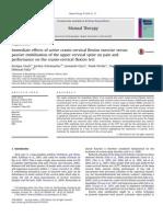 Immediate Effects of Active Cranio-cervical Flexion Exercise Versus Passive Mobilisation