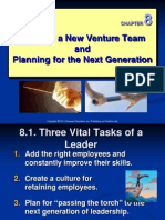 Ch 08 - Building a New Venture Team and Planning for the Next Generation