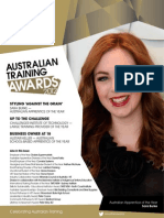 At a 2012 Australian Training Awards Magazine