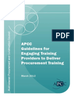 APCC PUB_Guidelines for Engaging Training Providers to Deliver Procurement Training