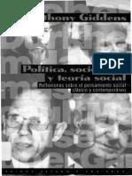 Politica Sociologia y Teoria Social - Anthony Giddens Cap. 2