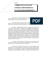 Comment Peut on Utiliser La Finance Comportementale - Mars 2007